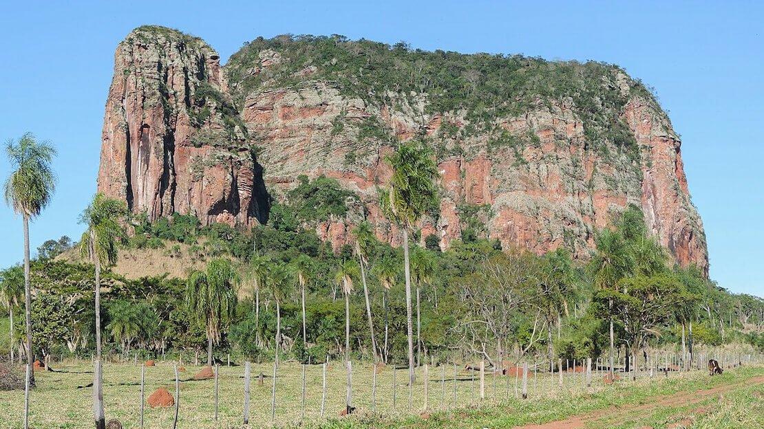 Il cerro Memby vicino a Conception in Paraguay.