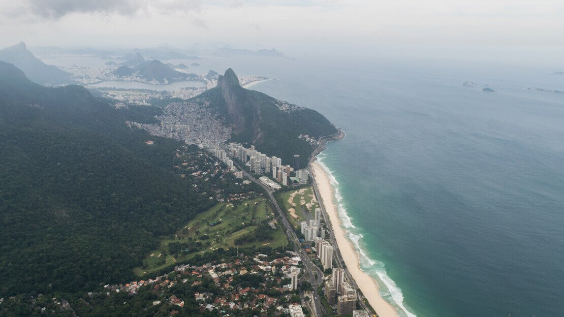 Vista dalla pietra di gavea a Rio de Janeiro
