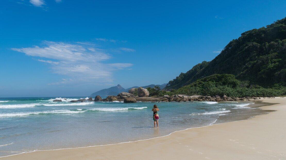 La spiaggia Lopes Mendes a Ilha grande