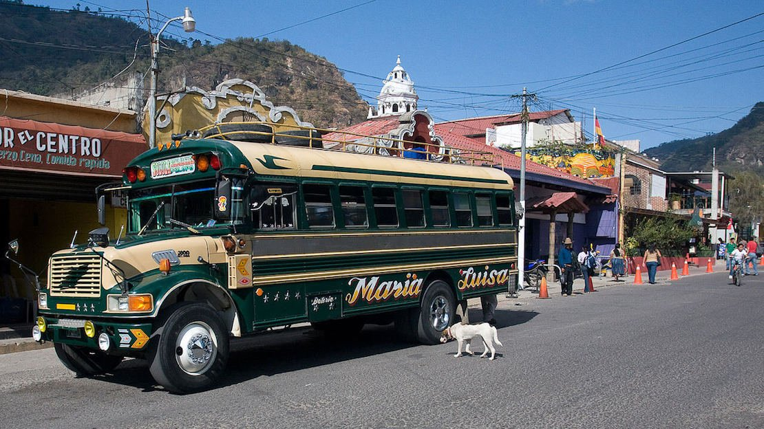 Chicken Bus Guatemala