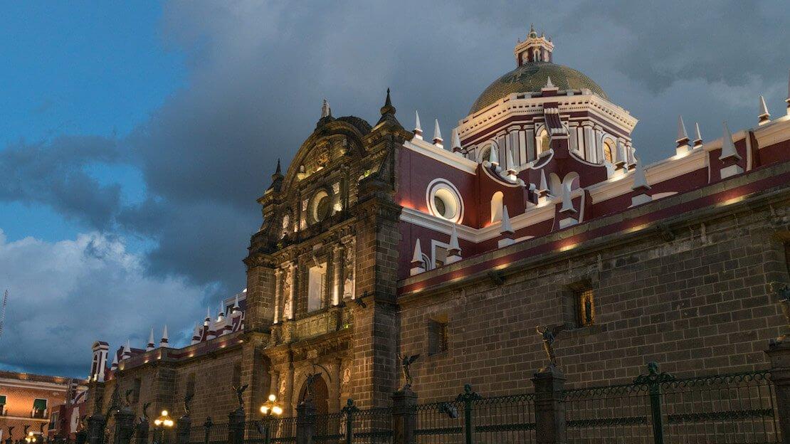 La cattedrale di Puebla in Messico