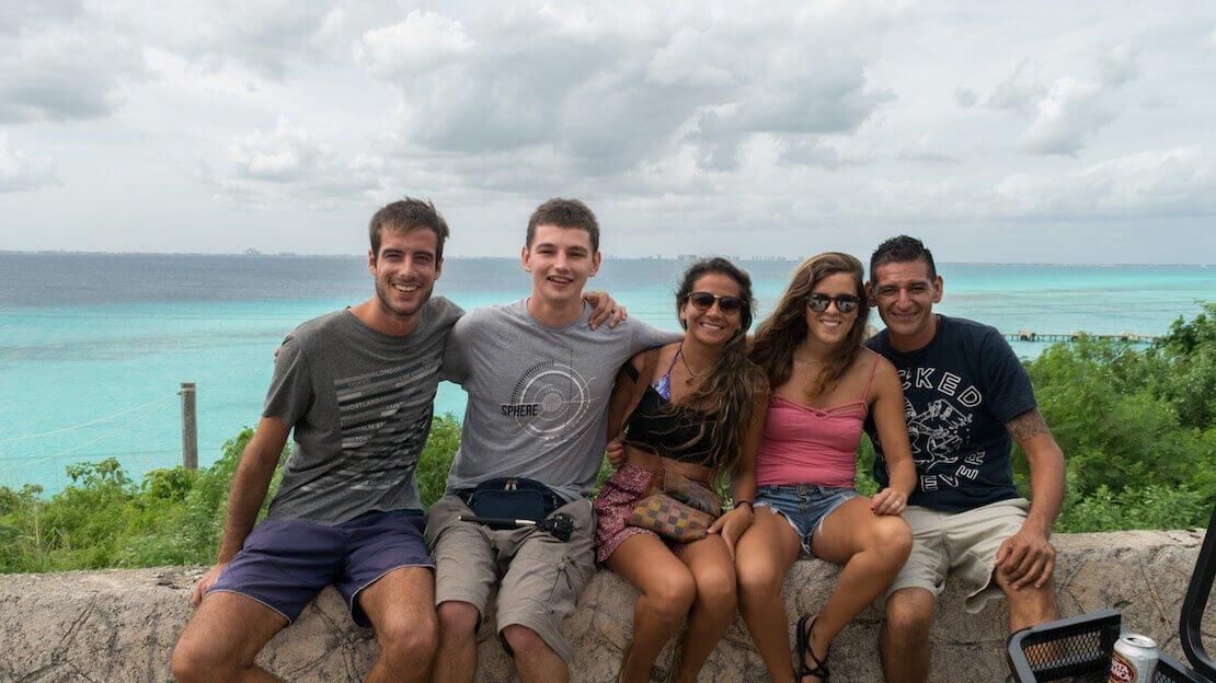 A spasso con la golf car a Isla Mujeres