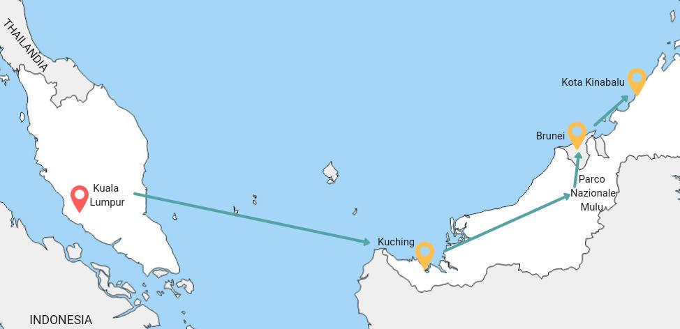 Itinerario viaggio di due settimane in Borneo
